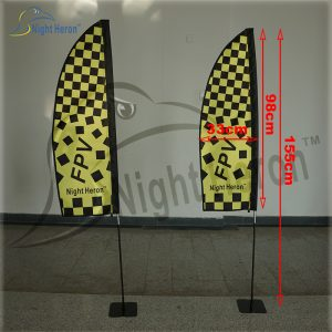 FPV Indoor Race flags with steel bases