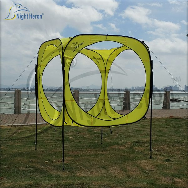 pop up cube gate with steel pole