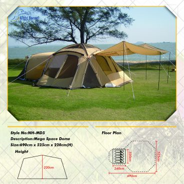 large family dome tent