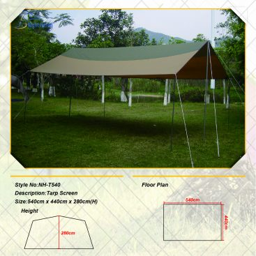 tarp screen shelters canopies